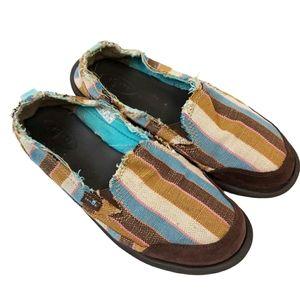 Sanuk Colourful Stripe Summer Boho Slip On Shoes